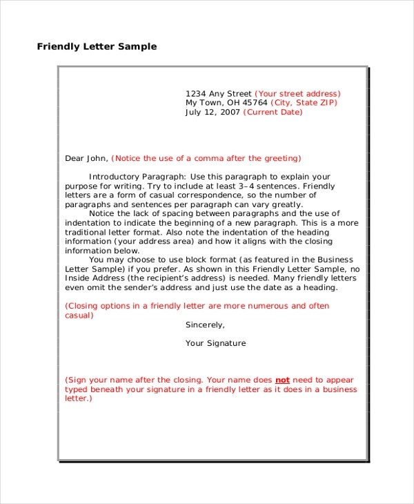 49 Friendly Letter Templates Pdf Doc Free Premium
