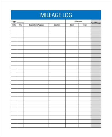 Download our free mileage claim template form as an excel spreadsheet,. Free 6 Sample Mileage Tracker Forms In Ms Word Ms Word Pdf