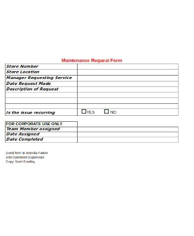 An apartment repair request form is a quicker and easier way to manage requests. Free 10 Sample Maintenance Request Forms In Pdf Ms Word Excel