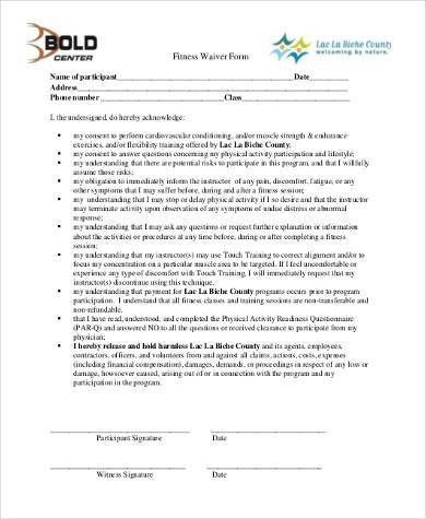 Sample Physical Fitness Forms  8+ Free Documents In Pdf