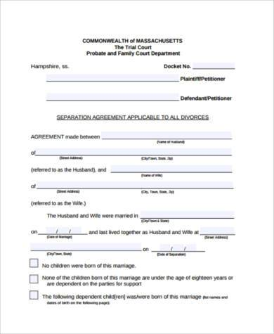 Employment Separation Agreement Sample Free Create