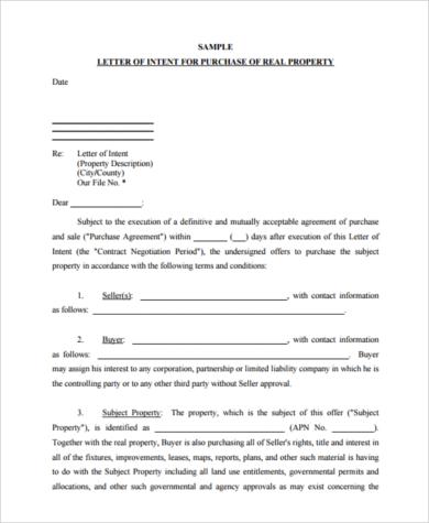 Offer Letter For Property Purchase  Docoments Ojazlink