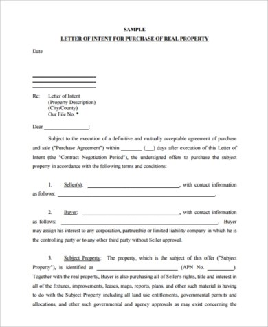fer To Purchase Real Estate Form Real Estate fer And