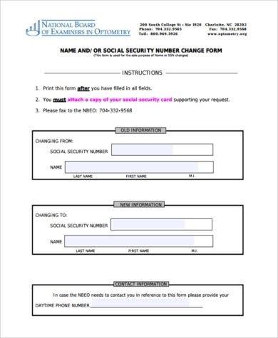 Social Security Card Name Change Form  InfocardCo
