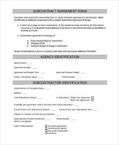 generic subcontractor agreement - Tier.brianhenry.co
