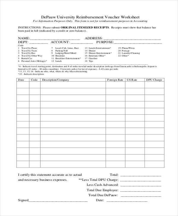 Free 17 Sample Printable Accounting Forms In