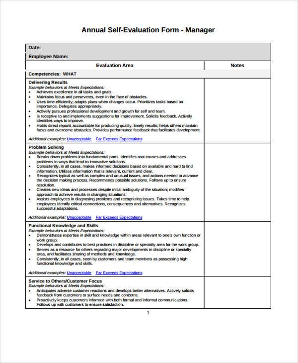 Get it now > format: Free 8 Employee Self Evaluation Forms In Pdf Ms Word Excel