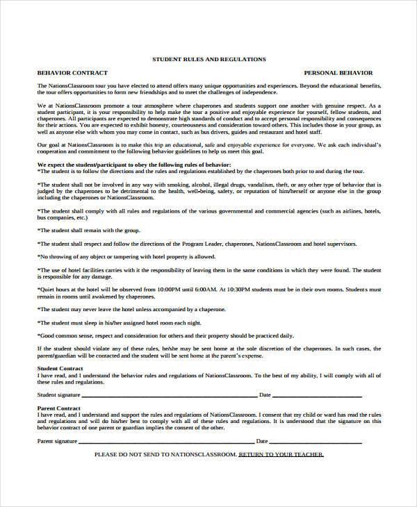 behaviour contract template - solarfm.tk