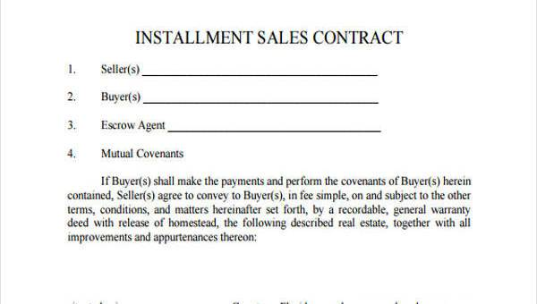 With every loan, comes the interest. Free 8 Installment Contract Forms In Pdf Ms Word