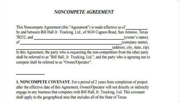 77.2 kb ) for free. Free 10 Non Compete Agreement Forms In Pdf Ms Word