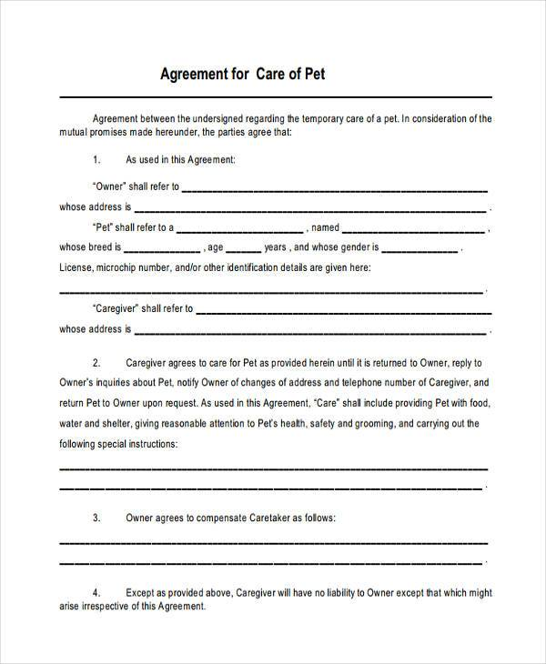 FREE 8 Custody Agreement Form Samples in Sample Example