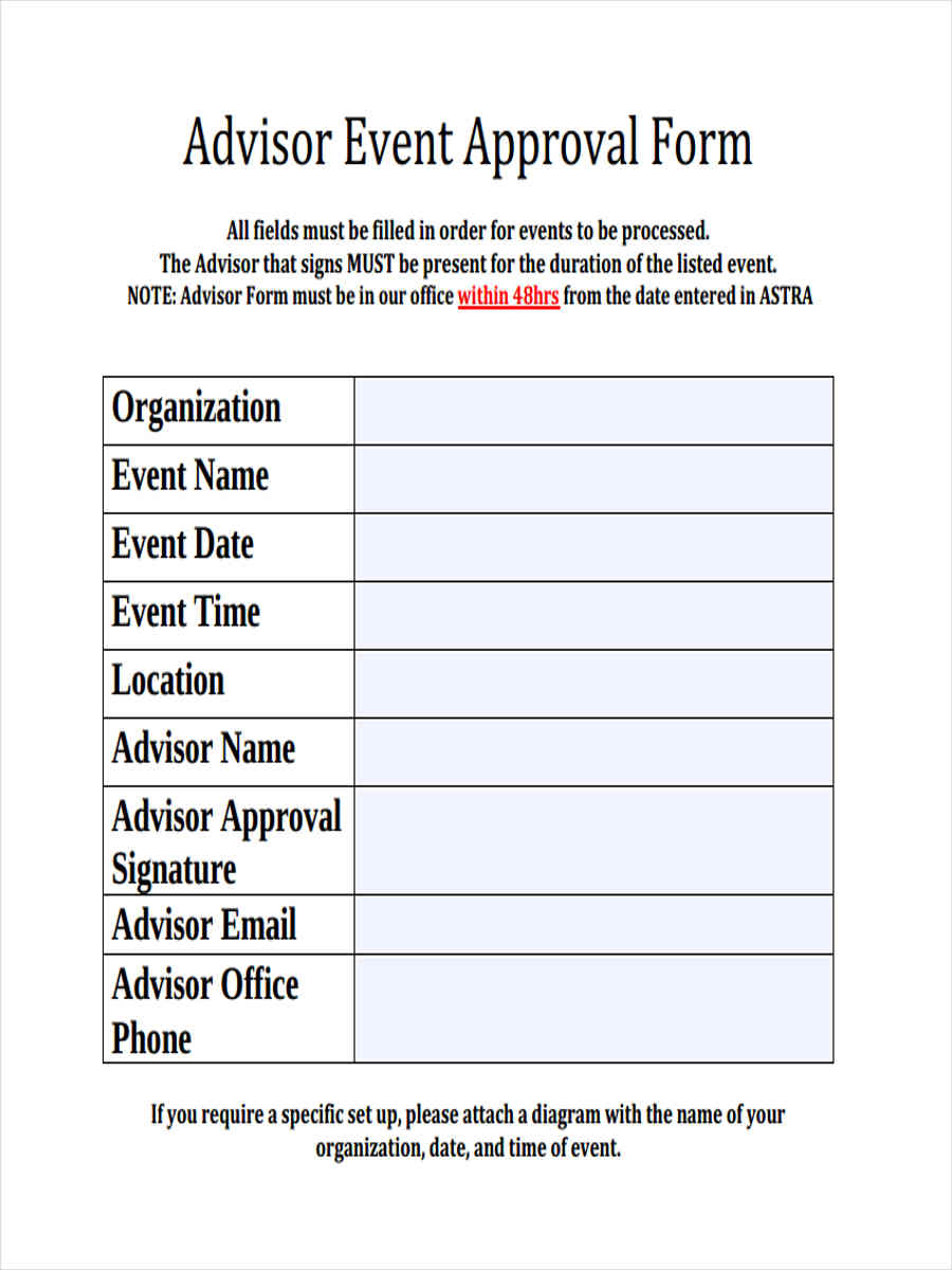 10 Event Approval Form Free Sample Example Format Download