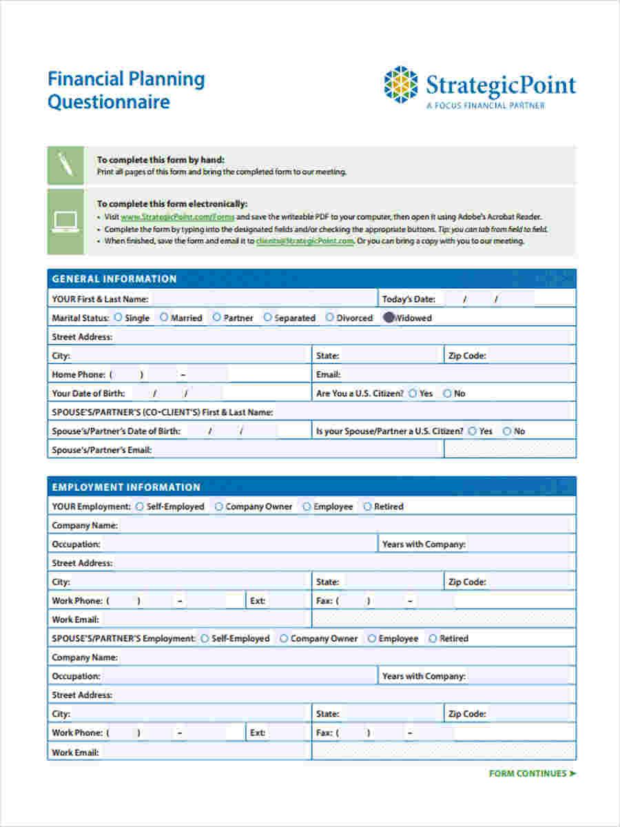 questionnaire about business
