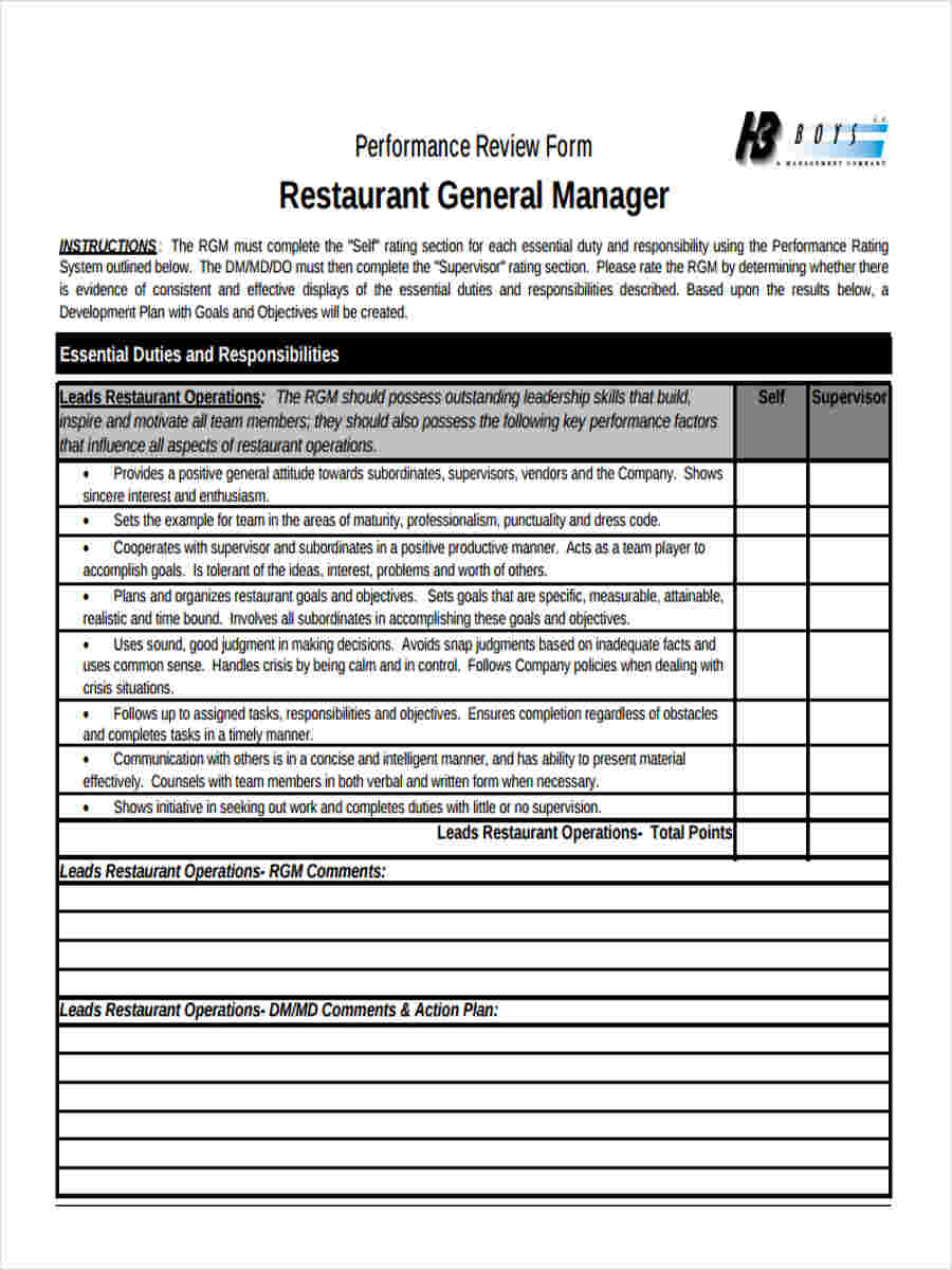 Employee Evaluation Forms Resources