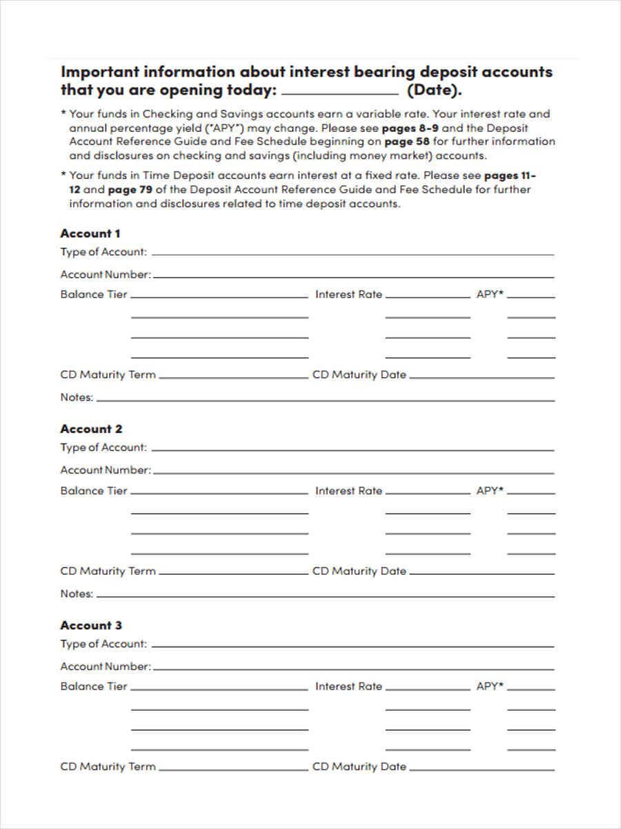 direct deposit forms
