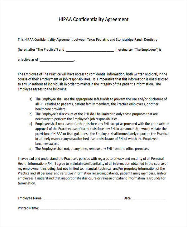 Amazing Confidentiality Agreement Form Contemporary  Resume Ideas