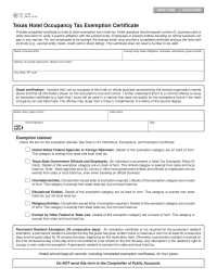 Federal Travel Tax Exemption Form
