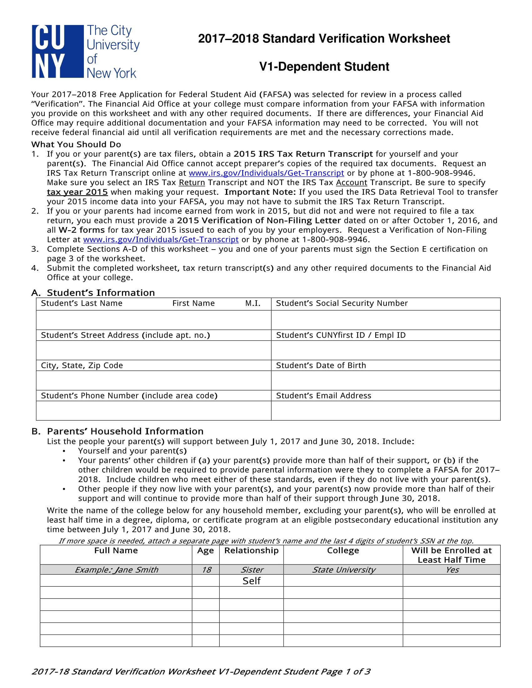 Worksheet Dependent Verification Worksheet Worksheet Fun
