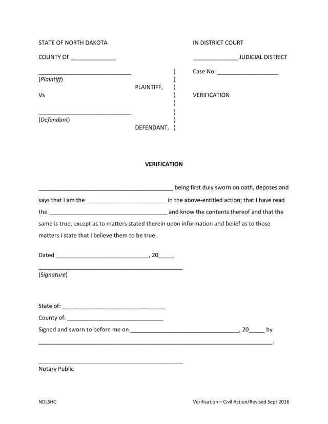 What Is A Notary Verification Form