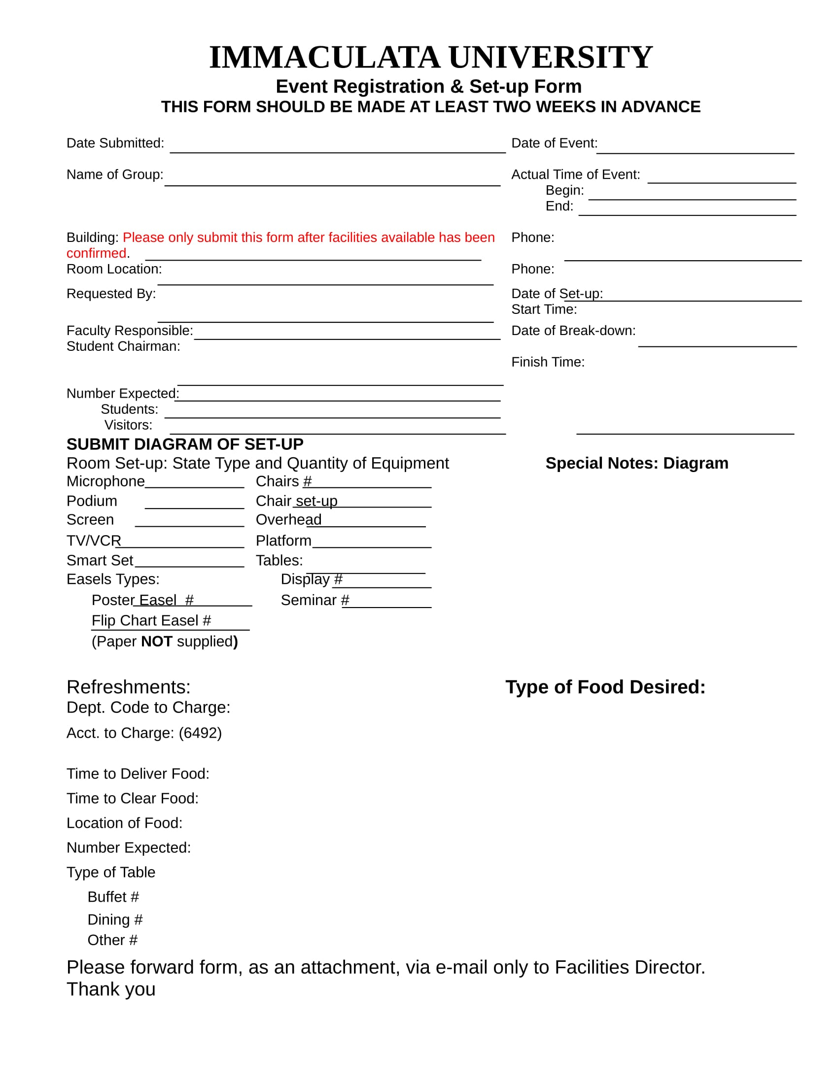 Free Event Registration Forms