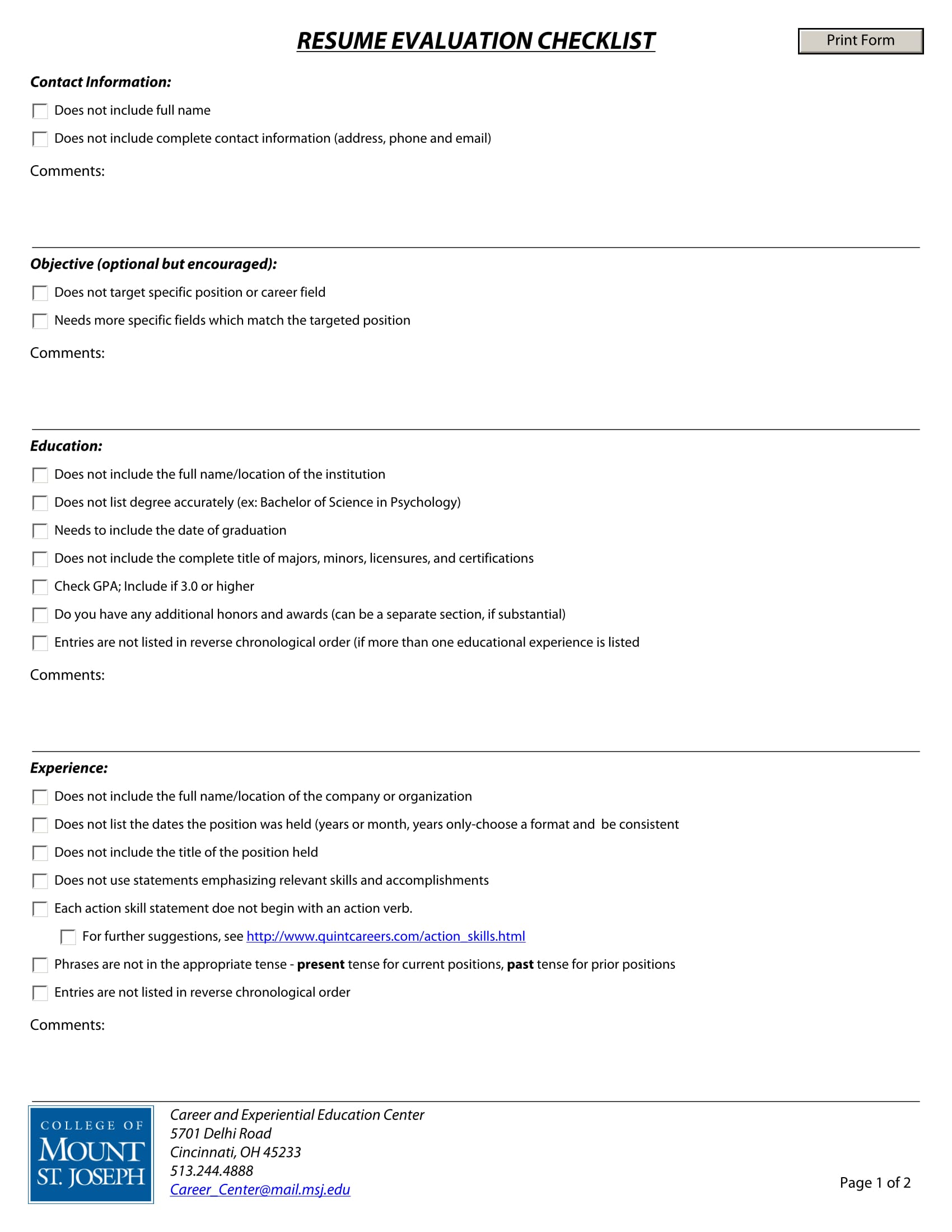 Resume Evaluation Free 14 43 Resume Evaluation Forms Free Word Pdf Format Download