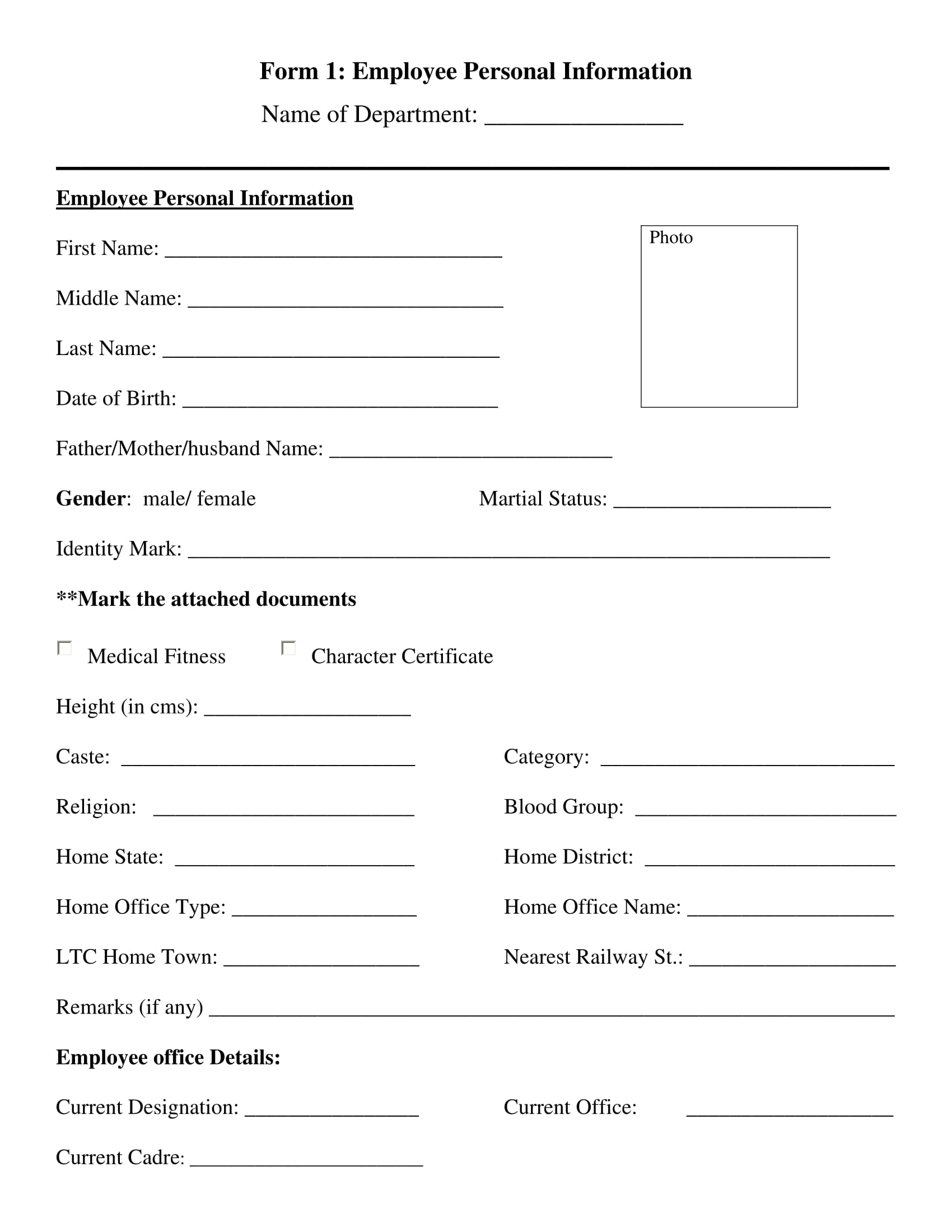 Free 13 Employee Information Forms In Ms Word