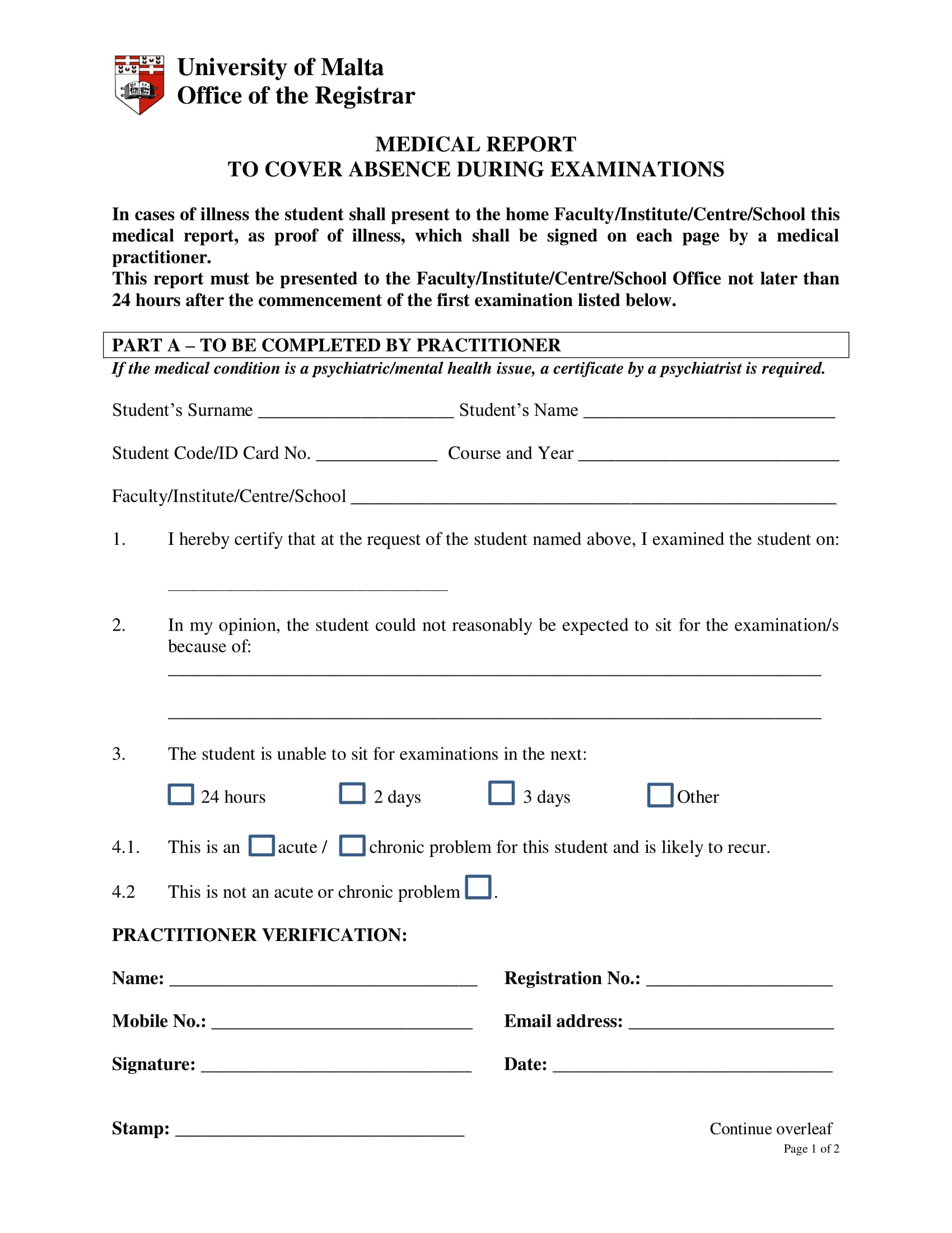 Free 14 Medical Report Forms In