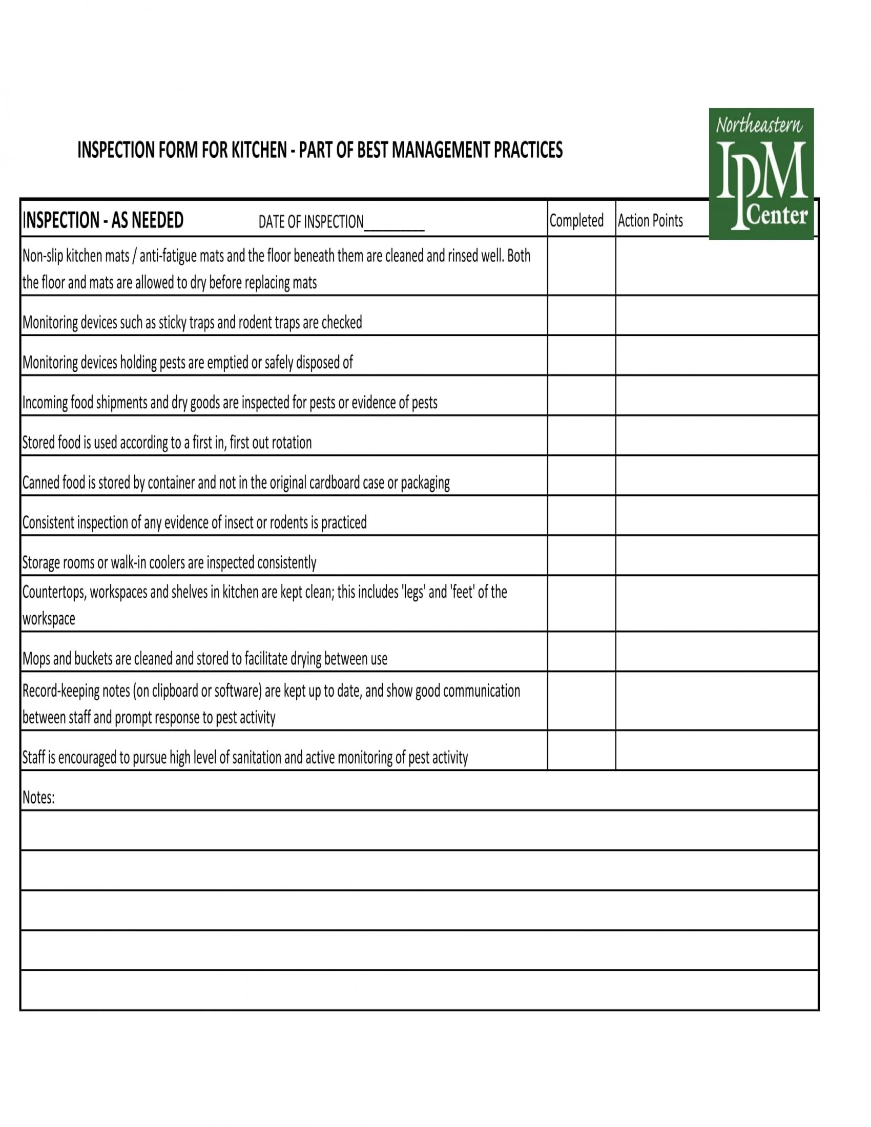 Free 8 Kitchen Management Forms In Word