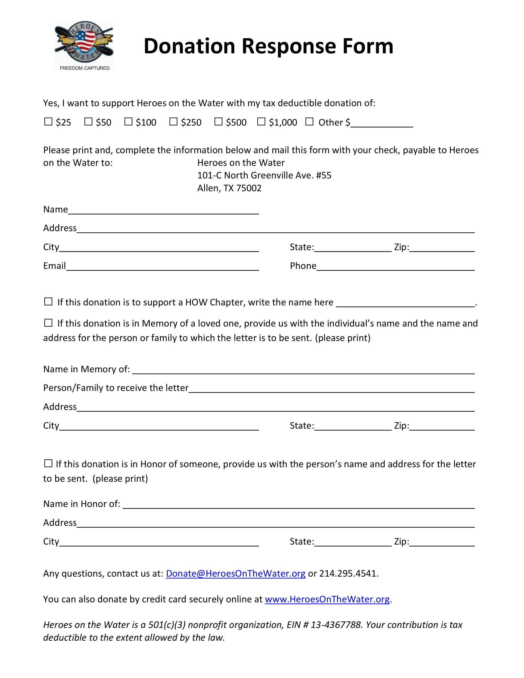 Free 4 Nonprofit Donation Forms In
