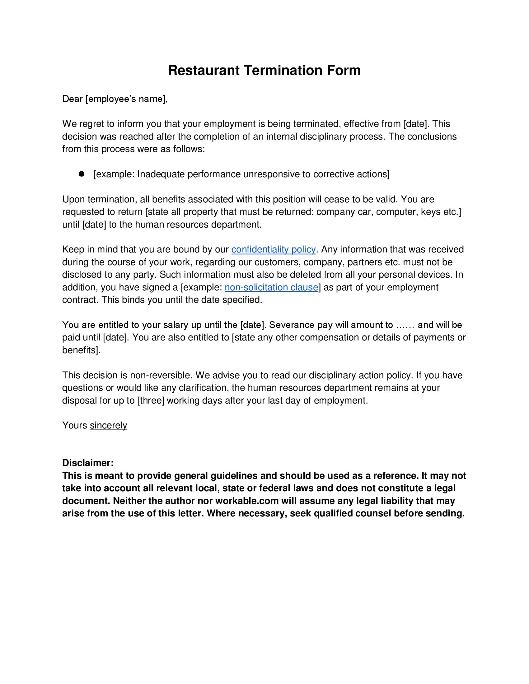 Reference Letter Sample Explaining A Layoff - Resume