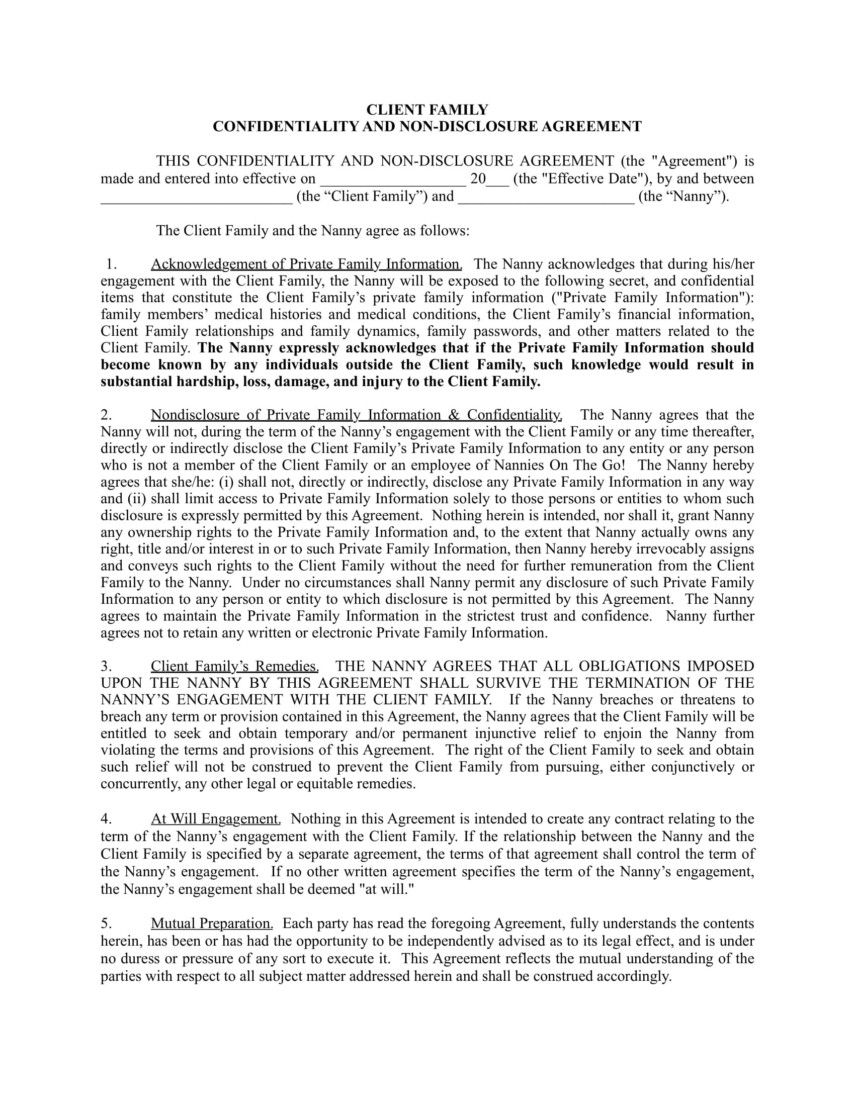10+ Confidentiality Agreement Contract Forms - PDF