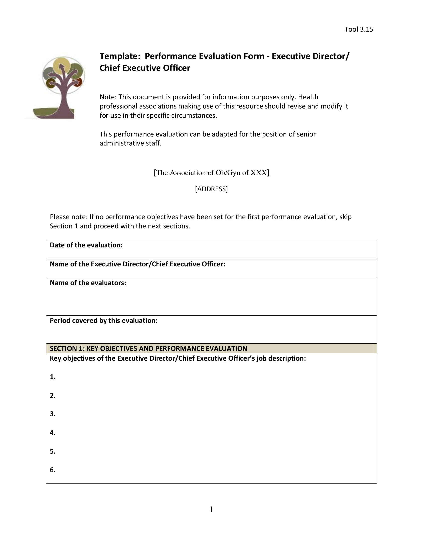 Chef Evaluation Form