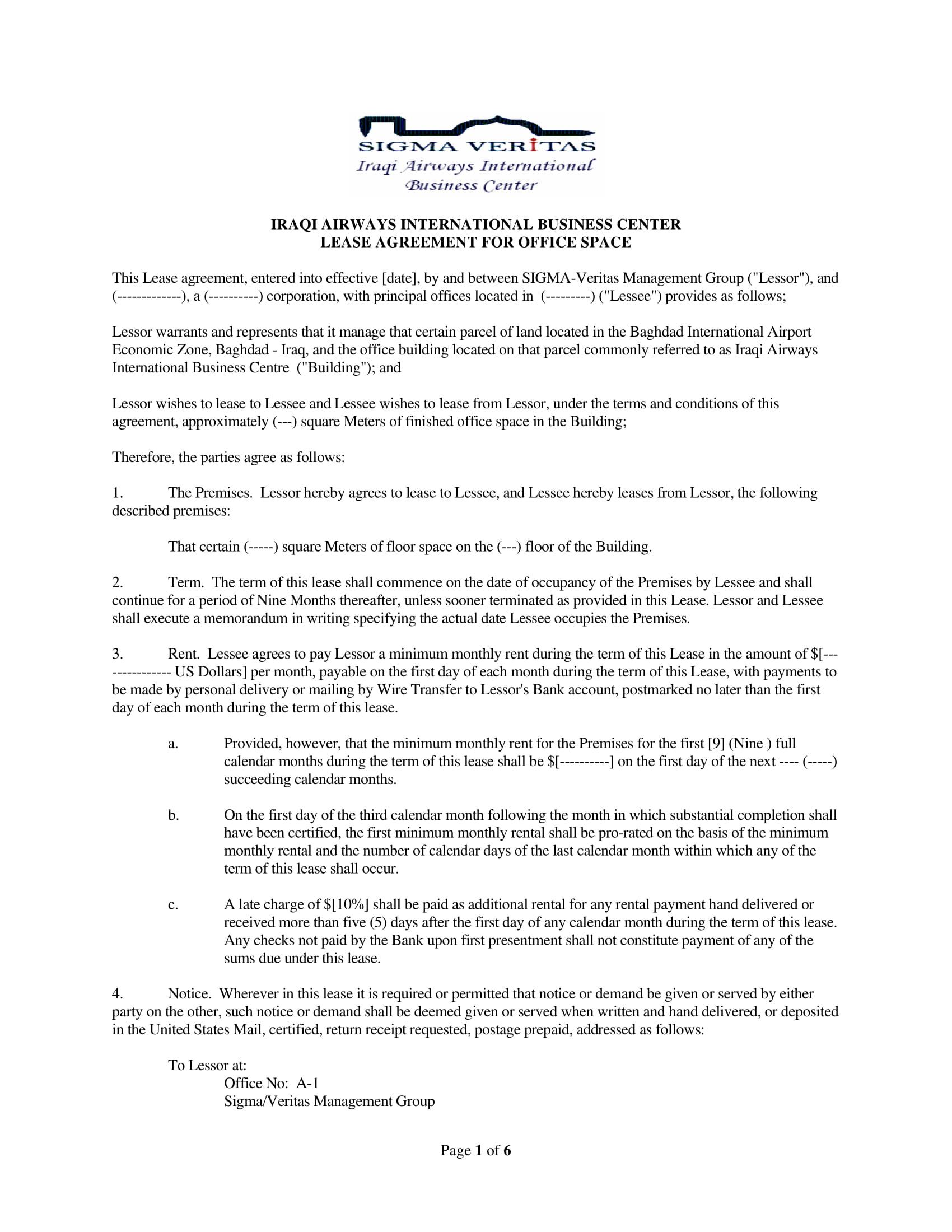 5+ Office Lease Agreement Contract Forms - PDF