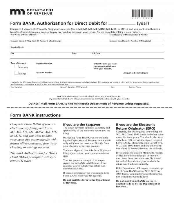 10+ Bank Authorization Forms - PDF