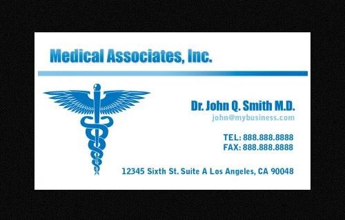 business card template blank