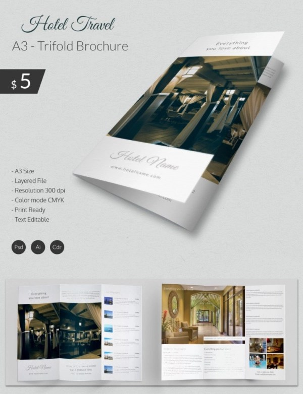 Travel Brochure Templates 21 Download In PSD Vector