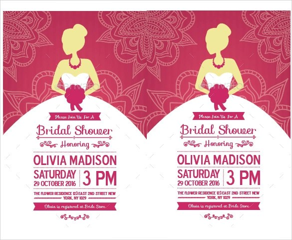 Free Printable Bridal Shower Invitations From Chicfettiwed