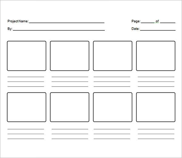 storyboarding template
