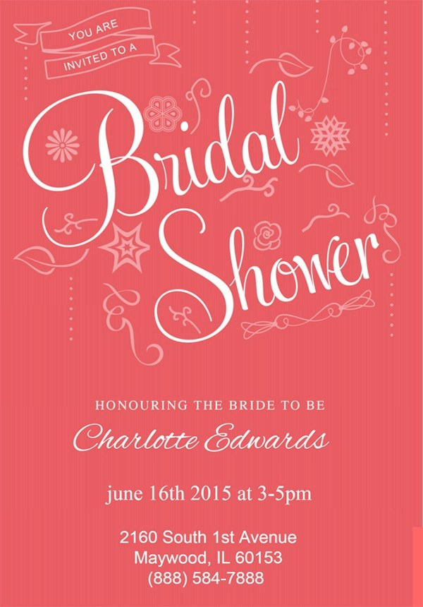25 Bridal Shower Invitation Templates  Download Free Documents in PDF  PSD  Vector
