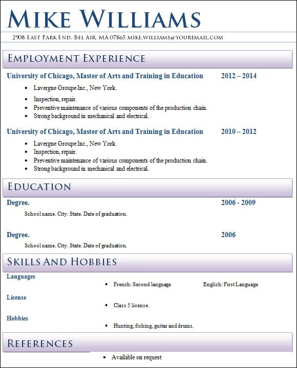 19+ Sample Creative Resume Templates | Sample Templates