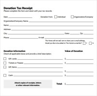 23+ Donation Receipt Templates  PDF, Word, Excel, Pages