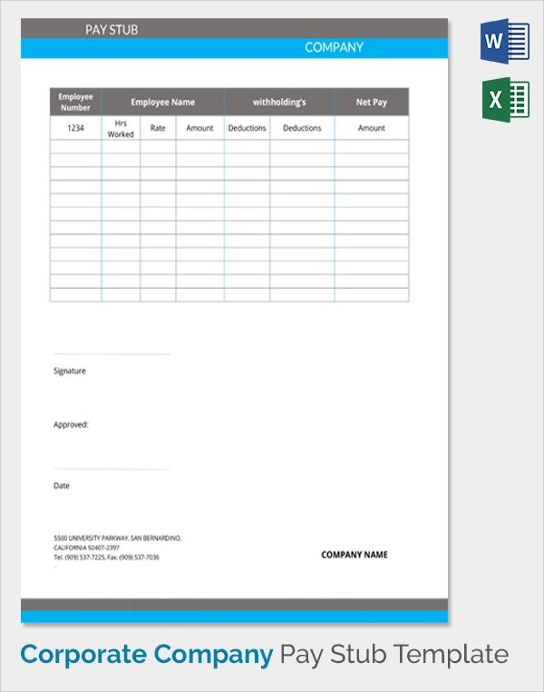 make a pay stub template