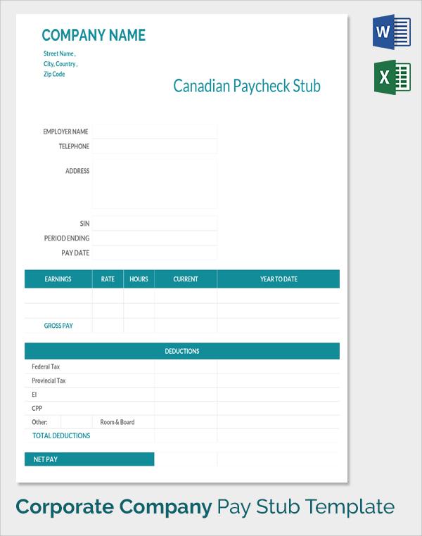 sample pay stub