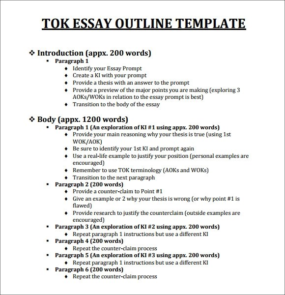 18 Useful Outline Templates – PDF Word Apple Pages
