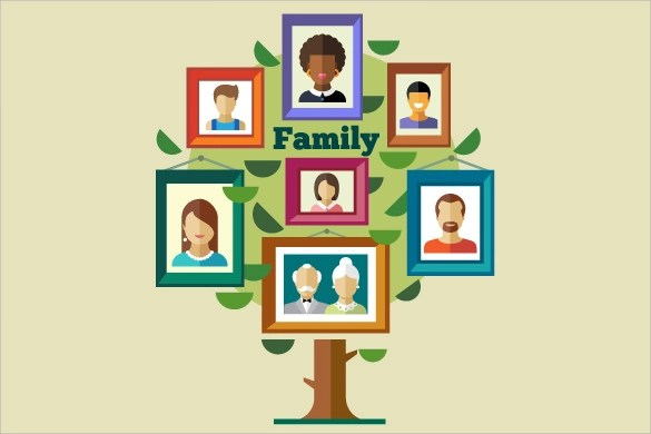 Family Tree Template 29 Download Free Documents In PDF Word PPT PSD Vector Illustration