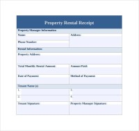 21 Rent Receipt Templates | Sample Templates