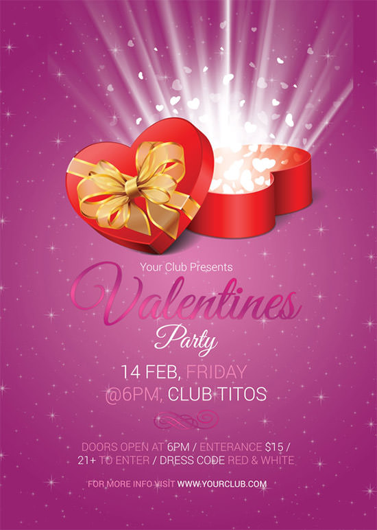 20 Best Valentines Day Invitation Templates Sample