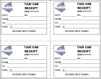 Taxi Receipt Template