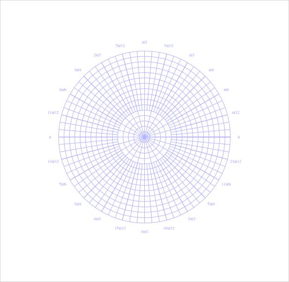 download polar graph paper