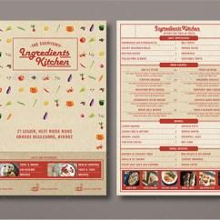 Kitchen Design Template Inexpensive Tables 42+ Sample Menu Cards | Templates